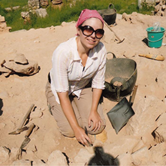 Kondyli image doing work in the field